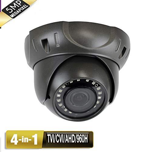 Amview 5MP HD 4-in-1 TVI AHD CVI 960H 24IR 2.8-12mm Varifocal Zoom Lens Security Surveillance Camera