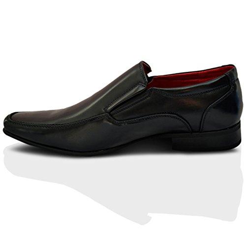 Giovanni Formale Da Uomo Matrimonio Slip On Office Scarpe Eleganti - Nero, 41 EU