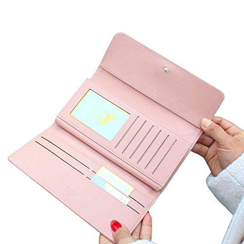 Case Pink Handbag Green Clutch Cd Wallet Light Leather Cc Purple Woman Faux Card Credit Holder Leatherette wvHT7qAR