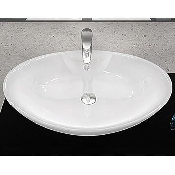 lavabo in ceramica arredo bagno rosa lavandino d'appoggio bianco ... - Lavandino Arredo Bagno