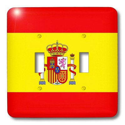 3dRose lsp_28285_2 Spain Flag Double Toggle Switch by 3dRose