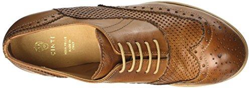 CINTI 351 - zapatos Brogue Mujer Marrone (Cuoio)