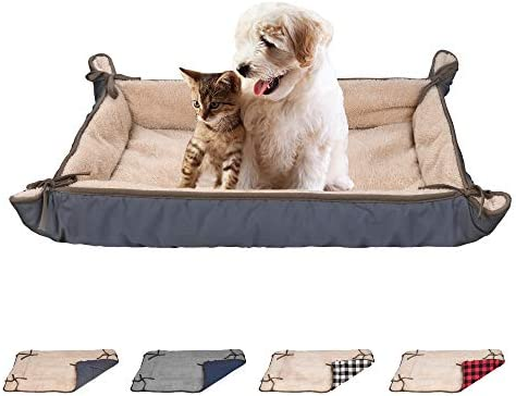 Crate Puppy Bed, Soft Beds for Dogs Back of Cars, Puppy Beds for Small Dogs Washable, Travel Dog Bed for Puppies, Cat Bed Washable, Idea Gift, Room or Car Travel Use