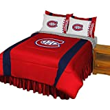 NHL Montreal Canadiens Hockey Team 5pc Queen Bedding Set