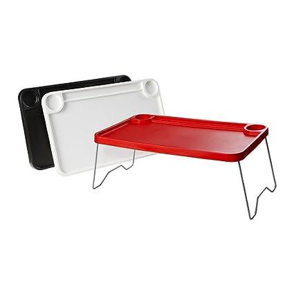 IKEA Nordby - Bandeja de cama, negro / blanco, rojo - 57x36 cm