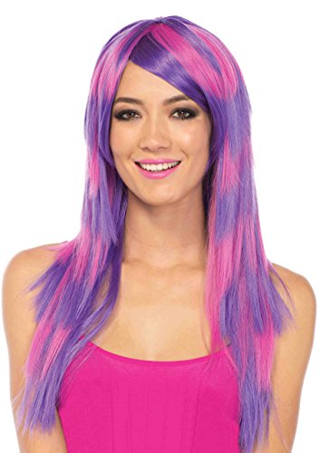 Long Striped Cheshire Cat Wig Costume Accessory