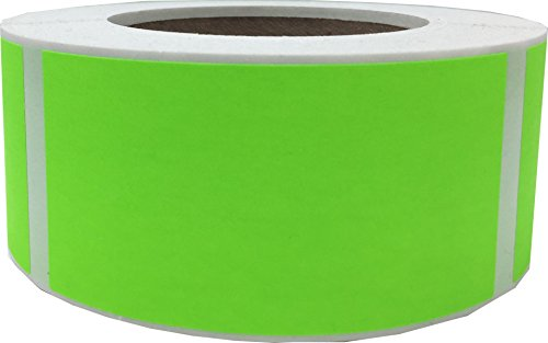 Fluorescent Green Color Coding Labels 2 x 4