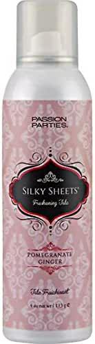 Passion Parties Silky Sheets Freshening Talc, 4 Oz (113 g), Pomegranate Ginger