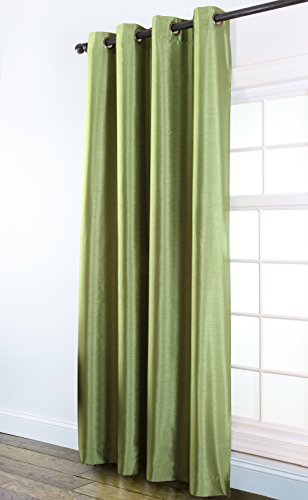 Stylemaster Tribeca 56 by 84-Inch Faux Silk Grommet Panel, Emerald