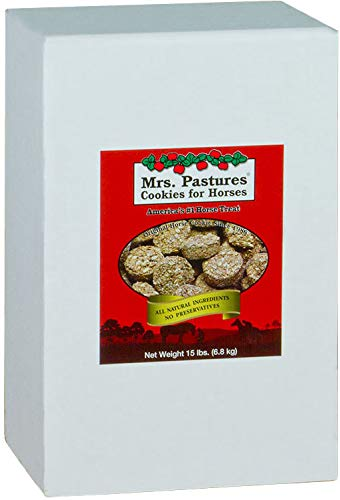 Mrs. Pastures Horse Cookies & Treats - Premium All Natural Treats (15 Pound Refill Box) ()