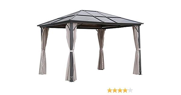 Carpa para jardín osoltus con techo rígido y mosquiteras de 3x3, 6 ...