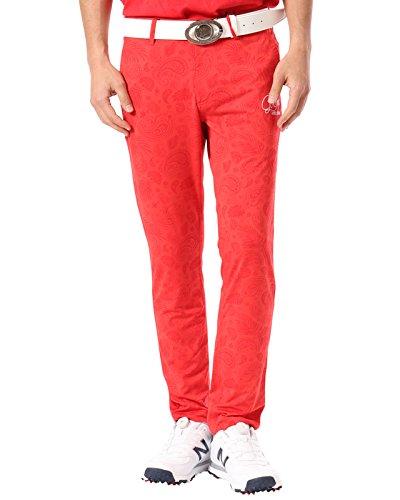 (ガッチャ ゴルフ) GOTCHA GOLF ロングパンツ ハイテンション ペイズリー パンツ 182GG1802 ライトレッド Lサイズ