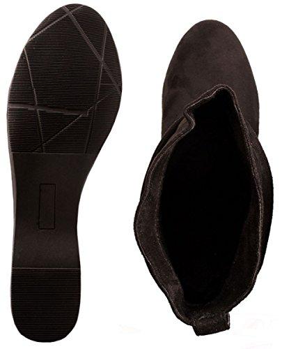 Elara - Botas de mujer | Cómodos botines clásicos | Botas planas Schwarz New