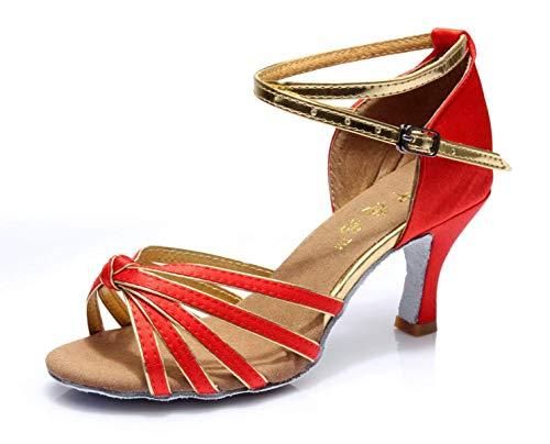 chacha BalSandales uk5Eu37 FemmesSalle Salsa JazzHheeled5cm Pour Souliers souliers De Danse Latine Our38 samba tango Hhgold modernes 80kPOnwX