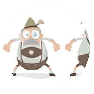 alfombrilla de ratón bayer de dibujos animados divertido bávaro - ronda - 20cm