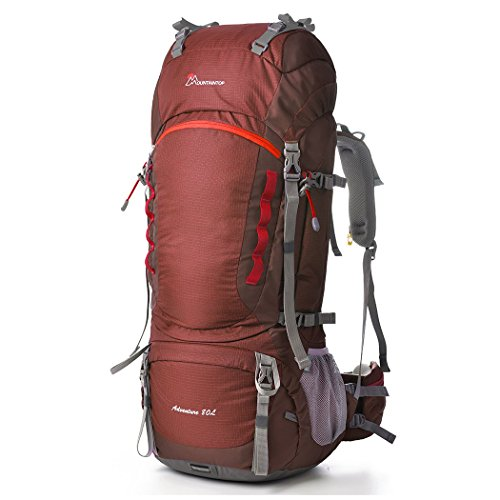(Mountaintop 80l Hiking Backpack Maroon)