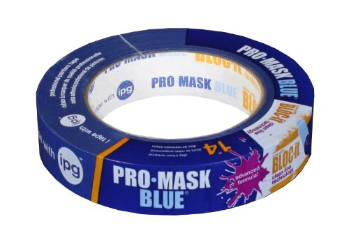 Intertape Polymer Group 9531-1 ProMask Blue with Bloc-it Painter's Tape,  0.94-Inch x 60-Yard