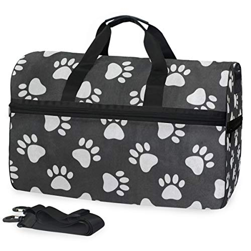 Tissue Wildcats Kentucky - Cat Dog Paw Print Gym Bag with Shoes Compartment Sports Swim Travel Overnight Duffels
