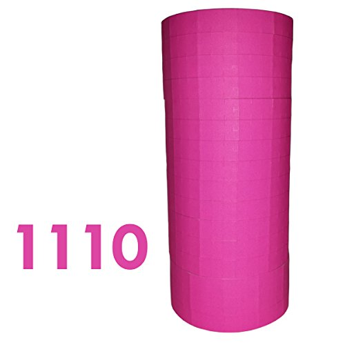 (Labels for Monarch 1110, Fluorescent Pink price gun labels, 16 rolls ink roller included)