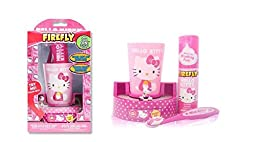 Hello Kitty Toothbrush Cup and Rotating Figurine Timer Gift Set