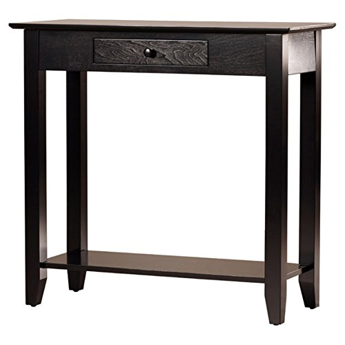 Charlton Home Williams Console Table, Compact Console Table, Black