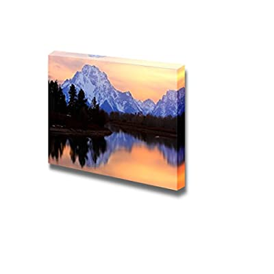 Gorgeous Technique, Created By a Professional Artist, Beautiful Scenery Landscape Mount Moran Reflectin in The Snake River at Oxbow Bend Grand Teton National Park Wyoming Wall Decor