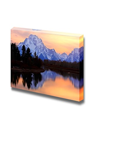 Beautiful Scenery Landscape Mount Moran Reflectin in the Snake River at Oxbow Bend Grand Teton National Park Wyoming Wall Decor ation