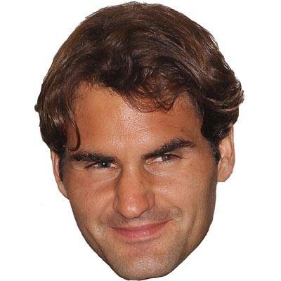 Roger Federer Maschere di persone famose facce di cartone