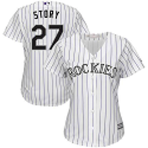 VF LSG Trevor Story Colorado Rockies #27 Name and Number Youth Cool Base Home Jersey Jersey T-Shirt for Men Women Youth