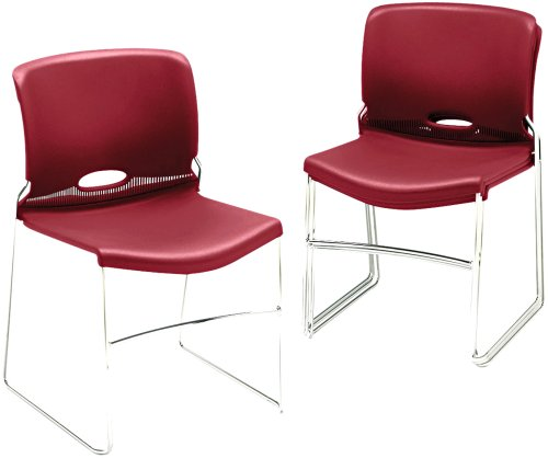 HON 404165 Olson Stacker Chair, Garnet, Four/Carton
