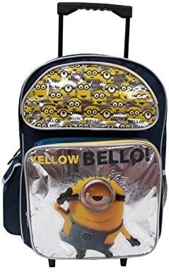 """Despicable Me 2 Minion 16/""""inches Rolling Backpack Licensed Product Bello!"""