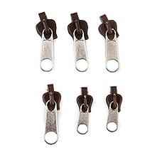 6pcs DIY Zipper Sliders Pull Zipper Puller Sewing Bag Repair Replace Kit