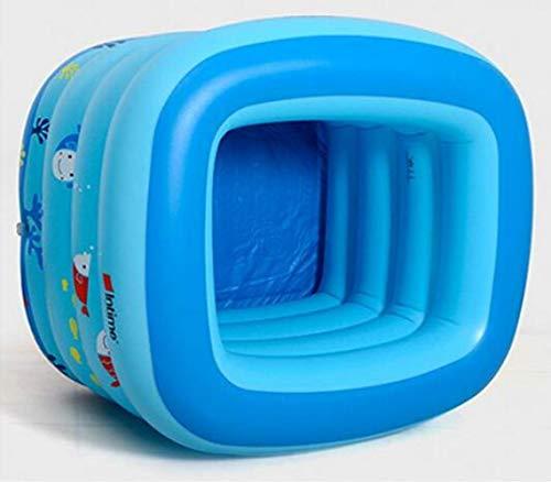 CTO Ining Bathtub Blue Baby Inflatable Swimming Pool Infant Young Child Children Thickening Newborn Bath Tub Blue Cartoon Small Fish,A,Bathtub by CTO (Image #2)
