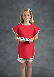 School Smart Vinyl Art Smock Apron, 22 x...