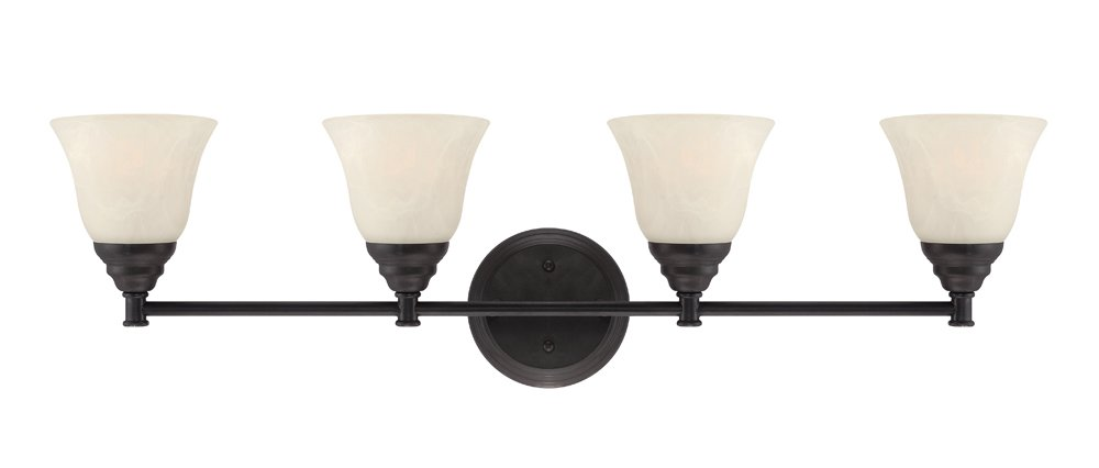 Designers Fountain 85104-ORB Kendall 4 Light Bath Bar, Oil Rubbed Bronze by Designers Fountain