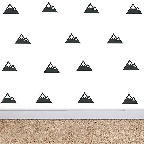 YOYOYU ART HOME DECOR Mountain Patterned Triangles Wall Sticker Nursery Decal for Bedroom Kids Room Wall Decal Vinyl Triangles Mountain Mural YYU-30 (Black)