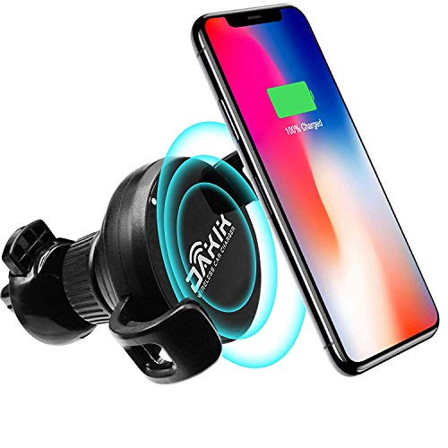 Dakik Wireless Car Charger - Car Wireless Charger for Apple iPhone X/8/8 Plus, Samsung Galaxy Note 8/S8/S8 Plus/S7/S6 Edge Plus/Note 5 and All QI-Enabled Devices Upgraded 10W, USB Car Charger (DK 11)