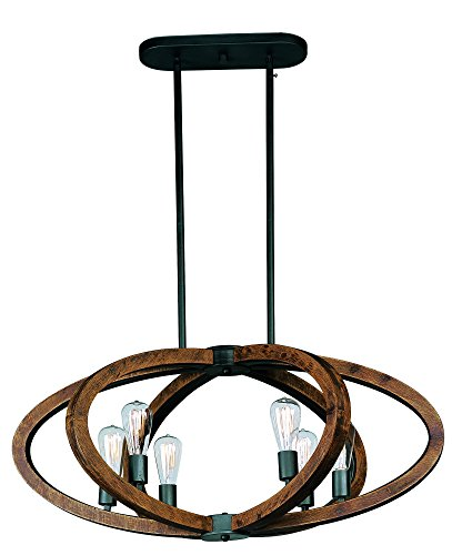 (Maxim Lighting 20915APAR Bodega Bay-Multi-Light Pendant 6)