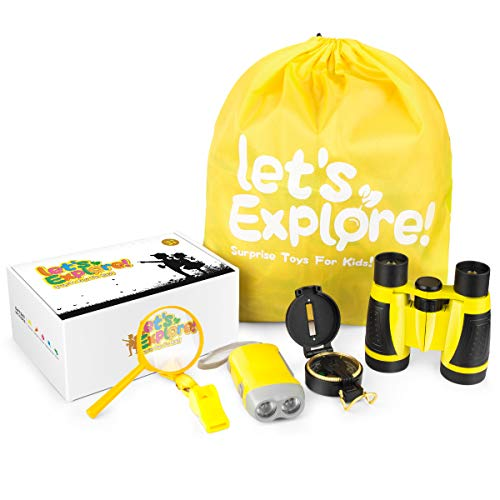 Outdoor Explorer Kit - Nature Exploration Kit Toys - Kids Camping Gear Outdoor Educational Exploring.Gifts Toys for Age 4-12 Years Old Boys Girls Birthday Present (Best Birthday Present For 2 Year Old Boy)