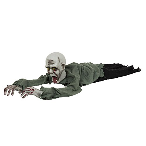 Bristol Novelty HI341 Crawling Zombie, Multi-Colour, One -