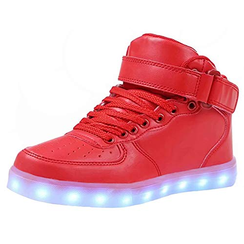 4658fae7c4 LED Light Up Shoes USB Flashing Sneakers For Toddler/Kids Boots-34(Red