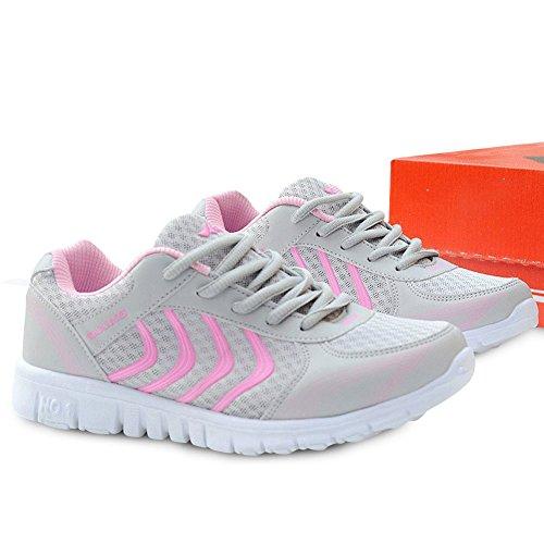 Mujer Running DUOYANGJIASHA Para Rosa de de Zapatillas Material Sintético FqzA0