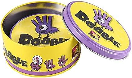 Juego de Mesa DOBBLE Spot Sport & Alphabet para niños diversión Familiar Doble Find it English Version - Multicolor