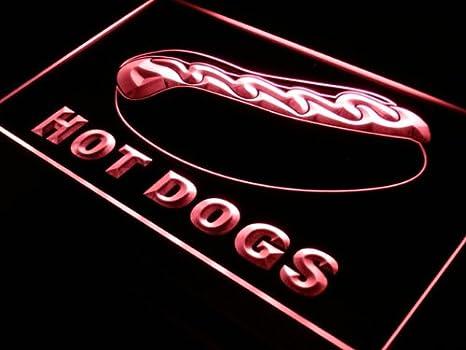 ADVPRO Cartel Luminoso j289-r Hot Dog Dogs Shop Cafe Bar ...