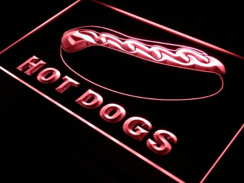 ADVPRO Cartel Luminoso j289-r Hot Dog Dogs Shop Cafe Bar ...