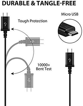 Genuine Charging 1.2A Wall Kit Upgrade Works with LG Exalt LTE as a Replacement Compact Wall Charger with Detachable High Power MicroUSB 2.0 Data Sync Cable! Black // 110-240v