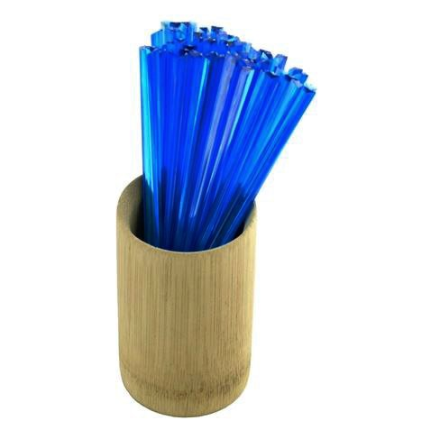 Blue Appetizer (BambooMN Brand - Triangular Prism Plastic Pick 3.5