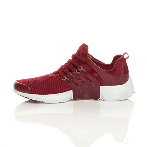 Ajvani Mens Lace up Sports Gym Fitness Running Flexible Trainers Casual Sneakers Size Burgundy WijWjtWFkm