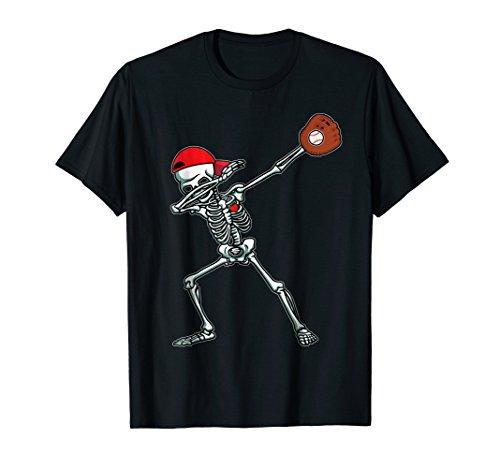 Dabbing Skeleton Baseball T-Shirt Dab Hip Hop Skull
