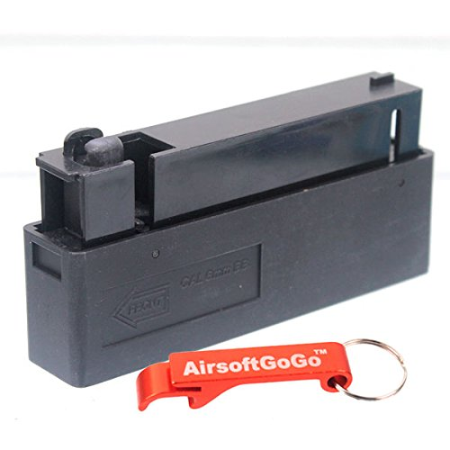 L96 25rd Cargador para Well MB01, MB04, MB05, G22 and G21 Airsoft Bolt Action - AirsoftGoGo Llavero Incluido E&C